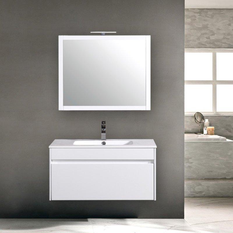 Sospesi da 80 a 100: Mobile da bagno sospeso Bianco Lucido cm 100 ...
